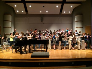 Singing with the Houghton College Choir